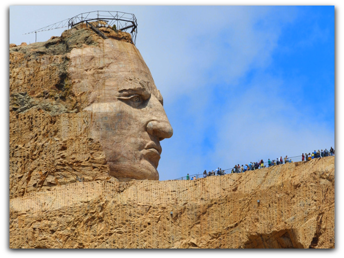 -Do you want to see the worlds largest carving This is Crazy Horse Memorial -
